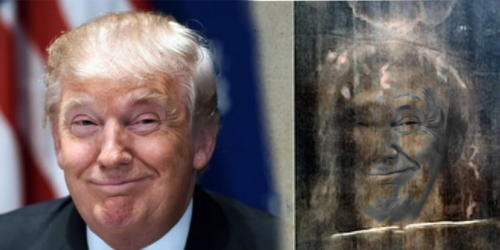 Donald Trump claims the Shroud of Turin shows the likeness of Donald